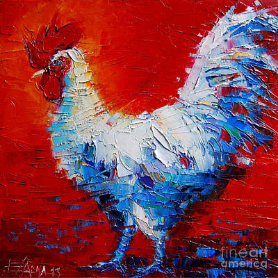 Cocks Painting - The Chicken Of Bresse by Mona Edulesco