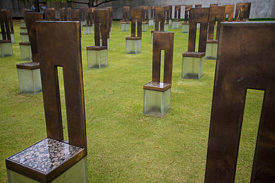 Empty Chairs Photograph - The Child's Chair Oklahoma City Memorial by Mary Lee Dereske