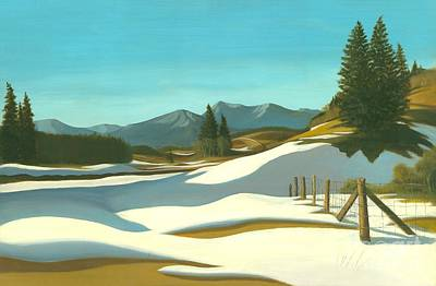 The Chinook Wind Blows Print by Michael Swanson