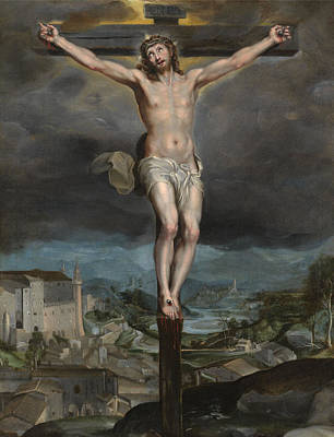 With Prayer Painting - The Christ Expiring On The Cross by Federico Barocci