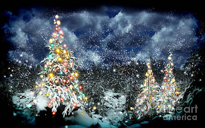 The Christmas Tree Print by Boon Mee