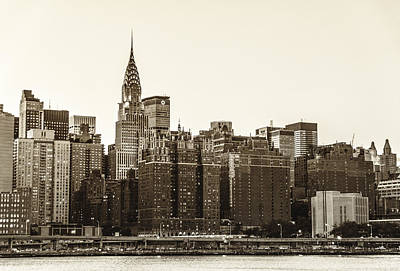 The Chrysler Building And New York City Skyline Print by Vivienne Gucwa