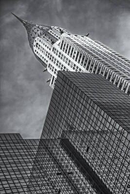 The Chrysler Building Bw Print by Susan Candelario