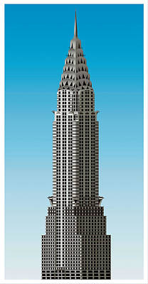 Famous Residents Painting - The Chrysler Building by Lanjee Chee