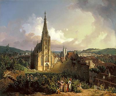 Esslingen Painting - The Church Of Our Dear Lady In Esslingen by Michael Neher