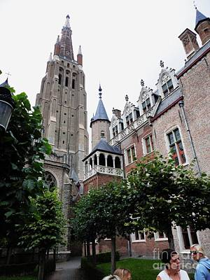 The Church Of Our Lady Brugge Belgium Olv Kerk Print by PainterArtist FIN