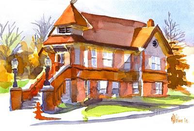 The Church On Shepherd Street 3 Print by Kip DeVore