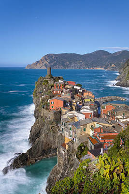 The Cinque Terre  - Vernazza In The Early Afternoon Print by Rob Greebon