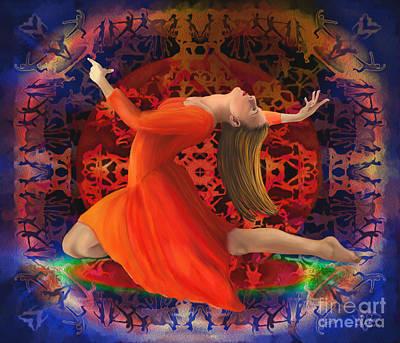 Traditional Folk Dance Digital Art - The Circle Of Dance by Sydne Archambault