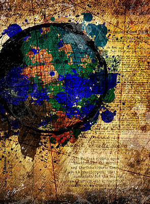 Colorful Abstract Digital Art - The Circle Of The Earth by Gary Bodnar