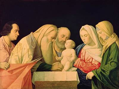 Simeon Painting - The Circumcision  by Vincenzo di Biagio Catena