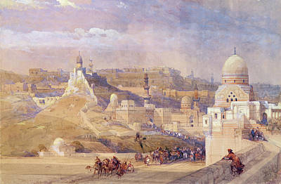 The Citadel Of Cairo, Residence Of Mehmet Ali, 1842-49  Print by David Roberts