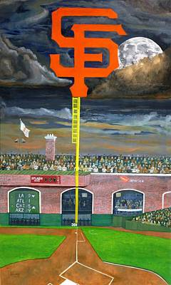Baseball Painting - The City Gets Even by Ryan Williams