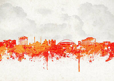 The City Of Athens Greece Print by Aged Pixel