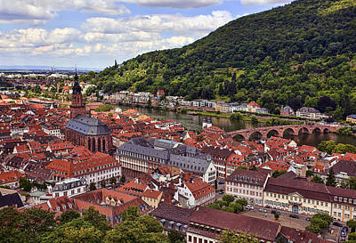 Castles Photograph - The City Of Heidelberg by Marcia Colelli