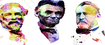 President Lincoln Painting - The Civil War by Coconut Lime Design