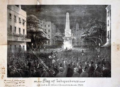 The Civil War, The First Flag Print by Everett