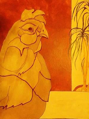 The Clay Chicken Print by David Raderstorf