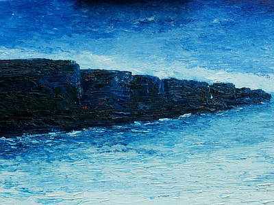Conor Painting - The Cliffs by Conor Murphy