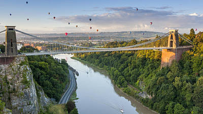 The Clifton Suspension Bridge Print by Sebastian Wasek