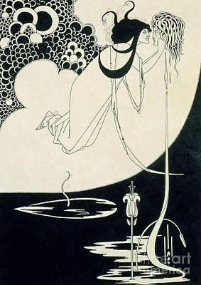 Black And White Erotic Art Drawing - The Climax by Aubrey Beardsley