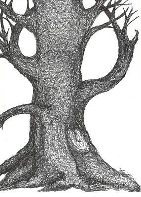 The Climbing Tree Print by Minnie Lippiatt