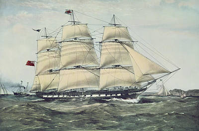 Water Vessels Painting - The Clipper Ship Anglesey by Anonymous