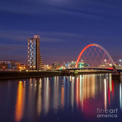 City Of Bridges Photograph - The Clyde Arc  by John Farnan