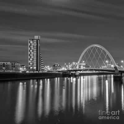City Of Bridges Photograph - The Clyde Arc Mono by John Farnan