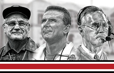 Woody Drawing - The Coaches by Bobby Shaw