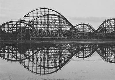 Rollercoaster Photograph - The Coaster by Carrie Ann Grippo-Pike