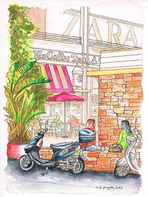 The Coffee Bean At The Farmers Market - Los Angeles - Ca Print by Carlos G Groppa