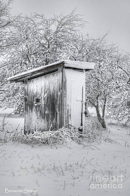 Winter Landscapes Photograph - The Coldest Fifty Yard Dash by Benanne Stiens