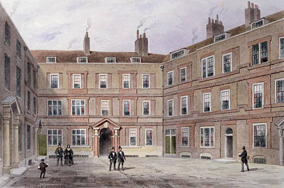The College Of Advocates, Doctors Commons, 1854 Wc On Paper Print by Thomas Hosmer Shepherd