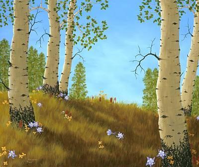 Columbine Painting - The Colors Of Nature by Rick Bainbridge