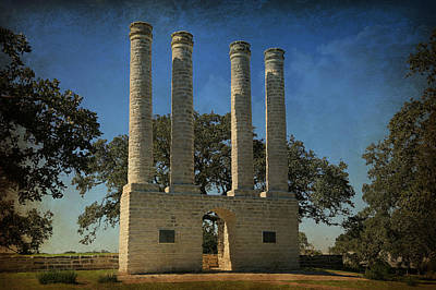 Dormitories Photograph - The Columns Of Old Baylor At Independence -- 3 by Stephen Stookey