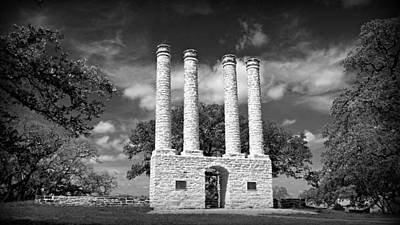 The Columns Of Old Baylor At Independence Print by Stephen Stookey