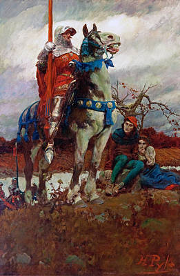 Howard Pyle Painting - The Coming Of Lancaster by Howard Pyle
