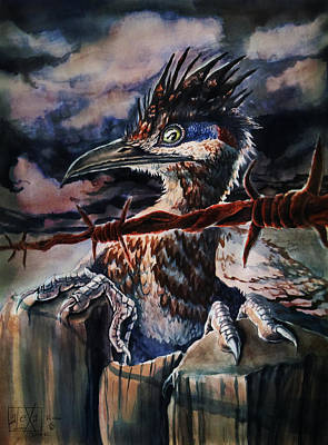 Roadrunner Painting - The Approaching Storm by Alexa-Renee Smothers
