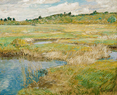Childe Hassam Painting - The Concord Meadow by Childe Hassam