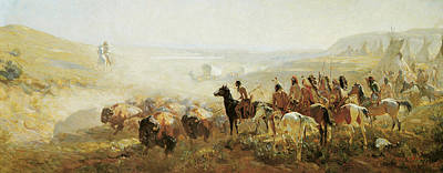The Conquest Of The Prairie Print by Irving Bacon