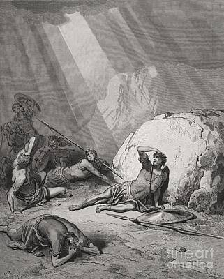Religious Drawing - The Conversion Of St. Paul by Gustave Dore
