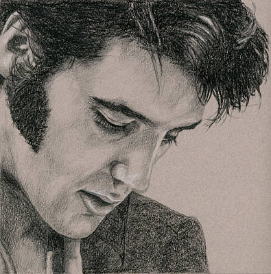 Elvis Presley Drawing - The Cool King by Rob De Vries