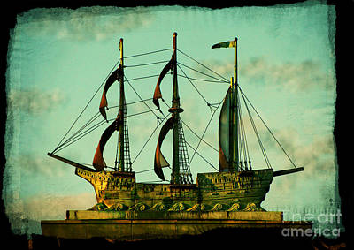 Manipulation Photograph - The Copper Ship by Colleen Kammerer