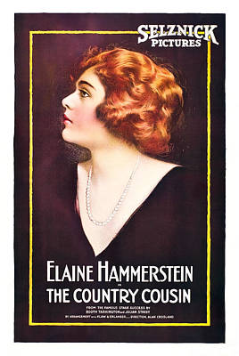 1910s Poster Art Photograph - The Country Cousin, Elaine Hammerstein by Everett