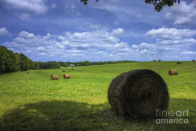 The Country House Hayfield Print by Reid Callaway