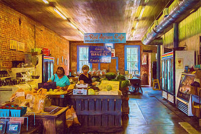 The Country Store - Impressionistic - Nostalgic Print by Barry Jones