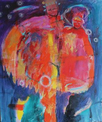 Abstract Painting - The Couple  by Kerri Blackman