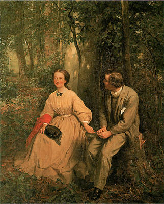 The Courtship Print by George Cochran Lambdin