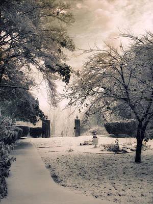 Snow Digital Art - The Courtyard by Jessica Jenney